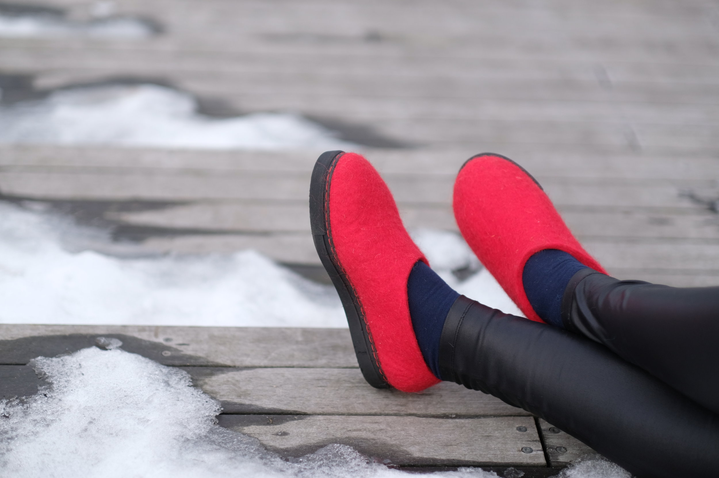 Warm Wool Shoes for Winter Outdoors - Just for Her