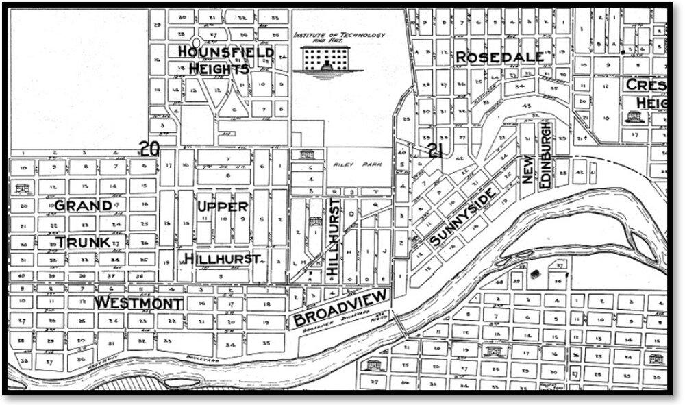 Calgary 1912 Map: Calgary Public Library