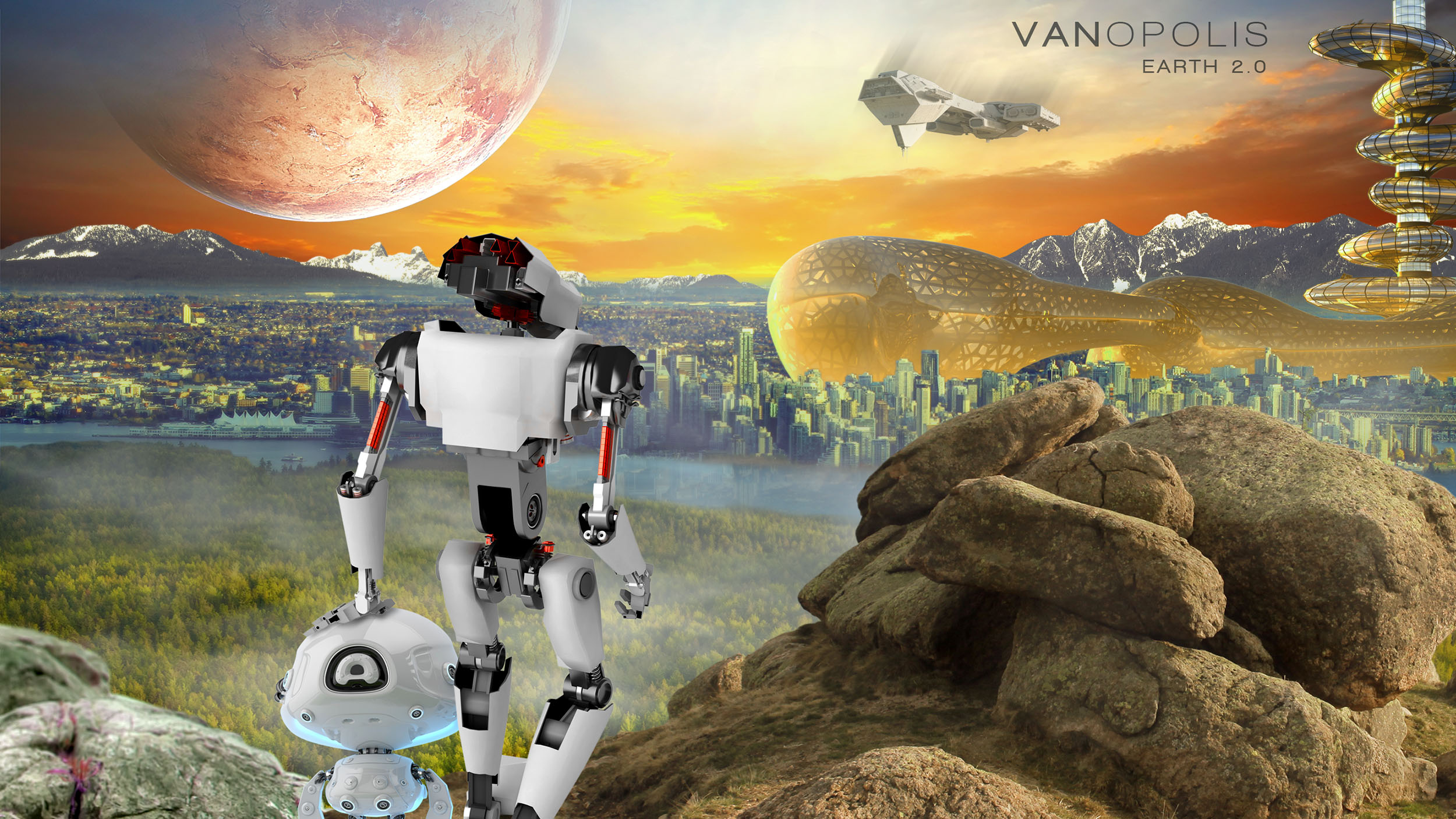 Vanopolis Earth 2.0 Wallpaper  Copyright © 2012-2017 460 Communications Inc. All rights reserved.  This design is intended strictly for portfolio use only and cannot be reproduced in any way with out written consent from 460 Communications Inc.  ·  Photoshop