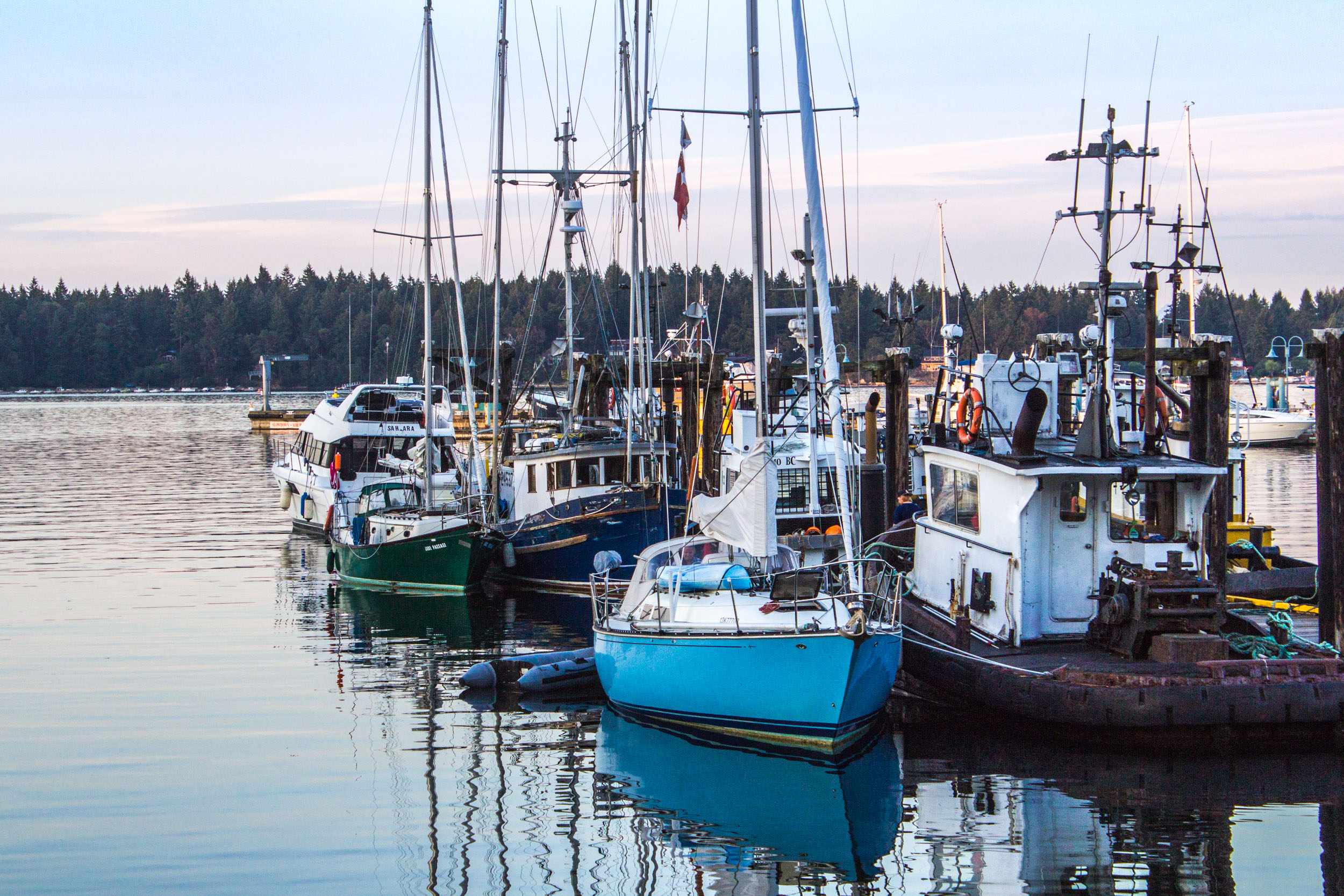 Boats in the Nanaimo Waterfront Harbour     Copyright © Afro Boy Productions. All rights reserved.