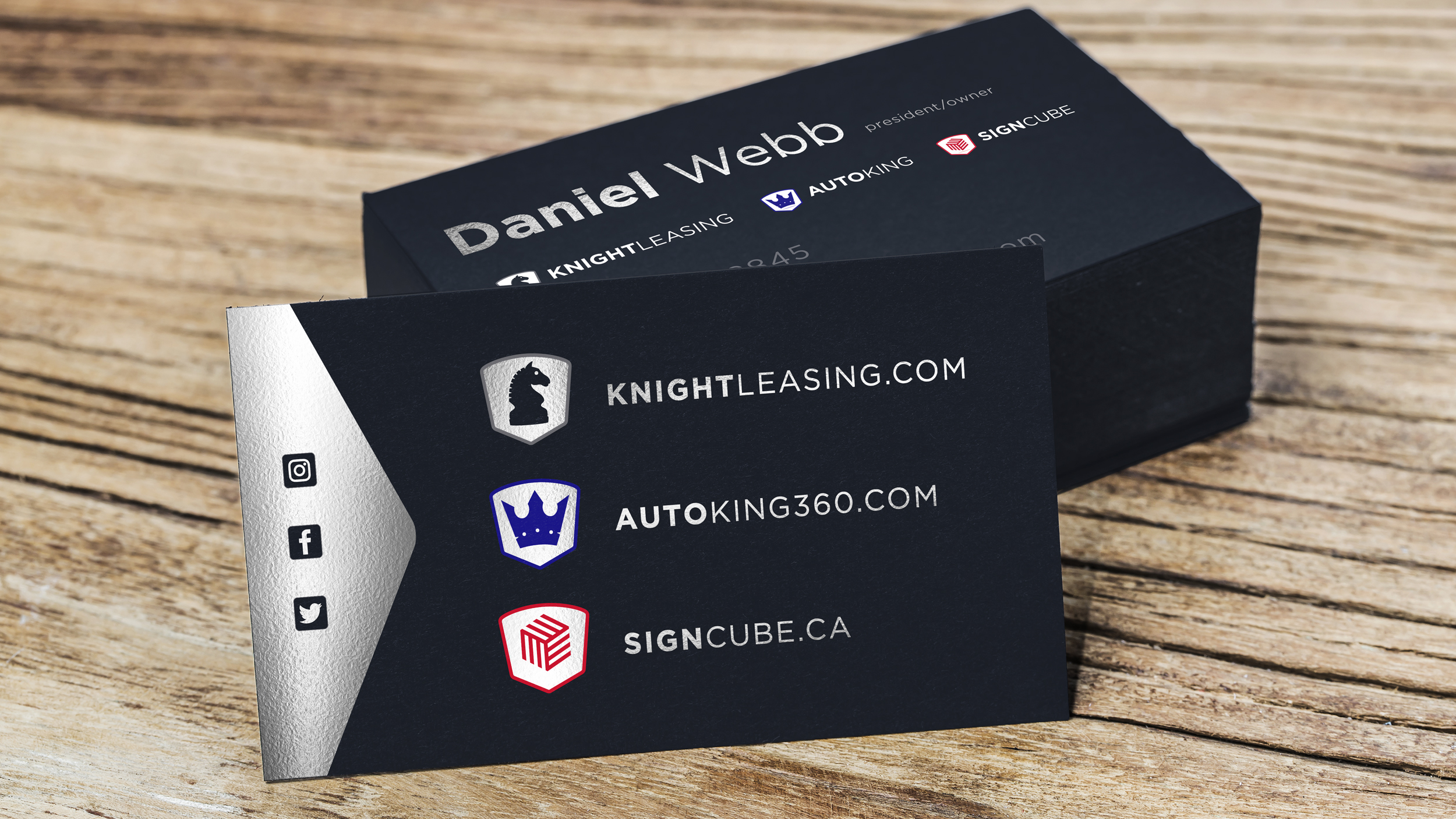 KNIGHT LEASING  Business Card  Copyright © Afro Boy Productions. All rights reserved.