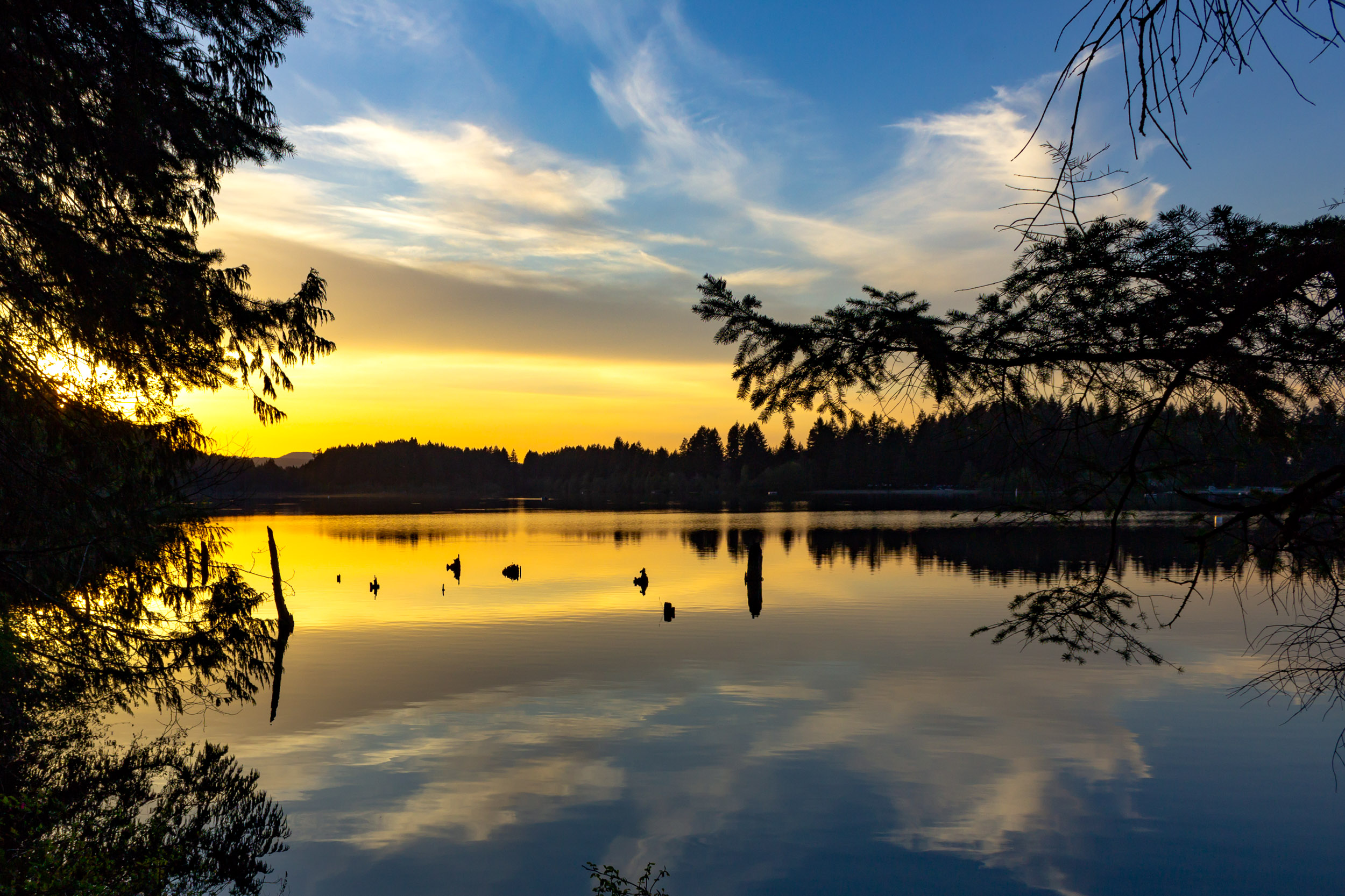 Sunset at Westwood Lake - Nanaimo, BC  Copyright © Afro Boy Productions. All rights reserved.