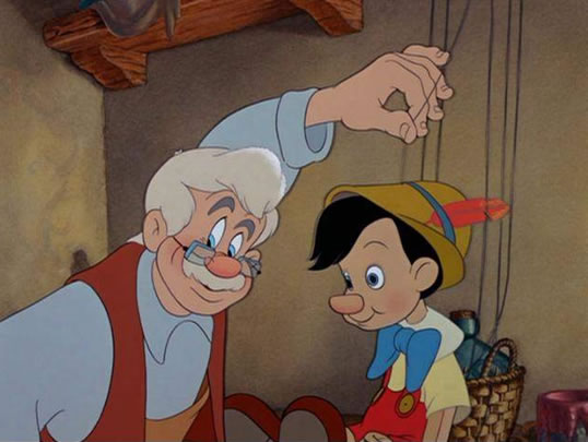 Instigators act like Geppetto (Puppeteers) and create their own Pinocchio's (Puppets.) We call those Puppets -  Personal Bots .  The Puppets get smarter over time - the more one interacts with the Puppet. Instigate.ai Personal Bots are the modern day Puppet.