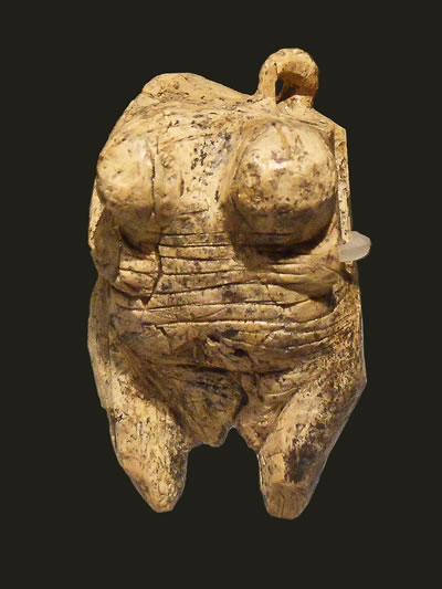 The Venus of Hohle Fels, dating back 35,000 years. It is the first known depiction of a human being.