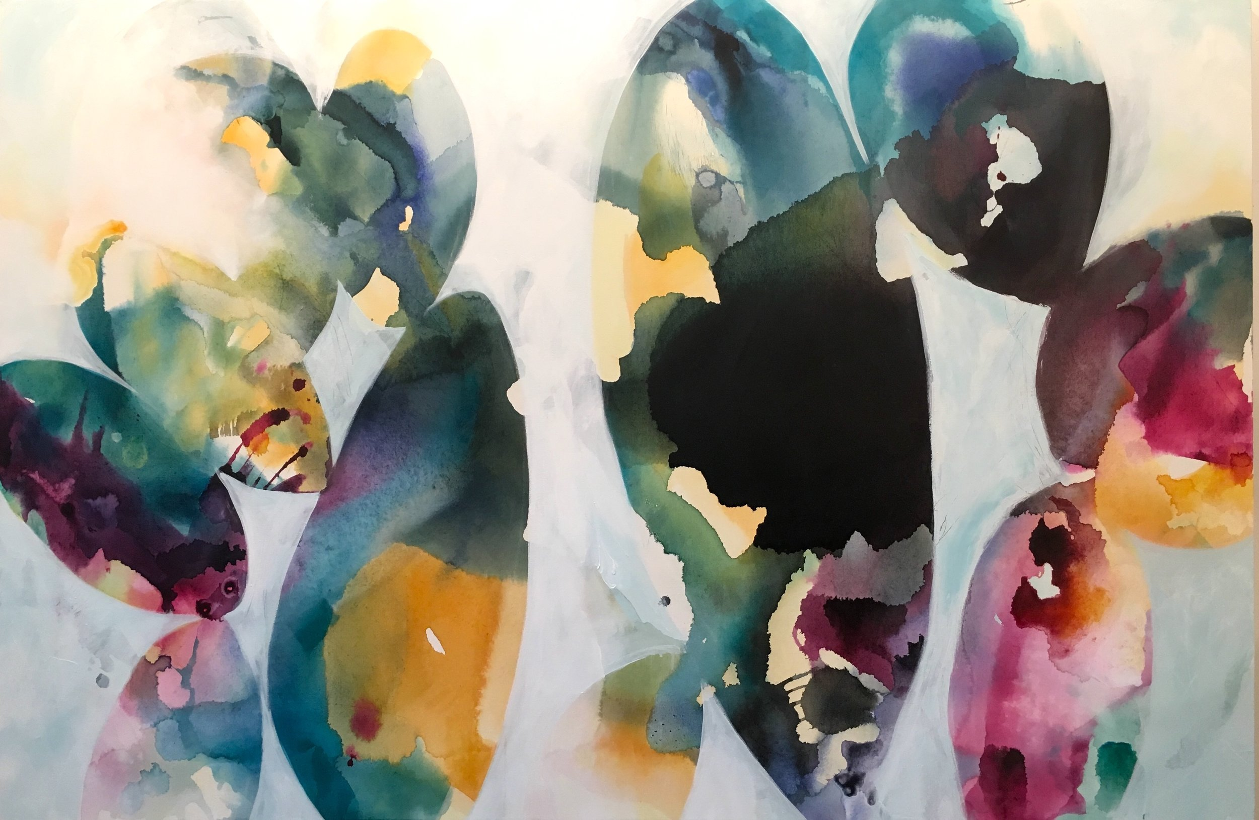 """sky full of song"", acrylic on canvas, 40"" x 60"""