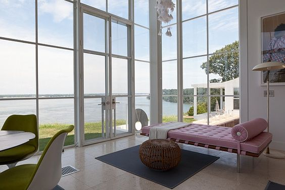 Shelter Island Beach House:  Pink Chaise