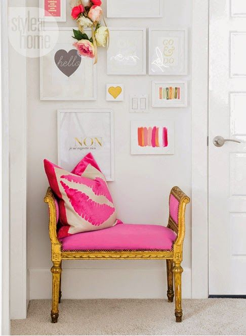 Hot Pink:  Statement Walls