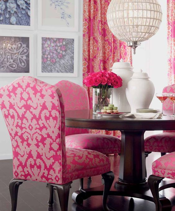 Hot Pink:  Dining Room Chairs
