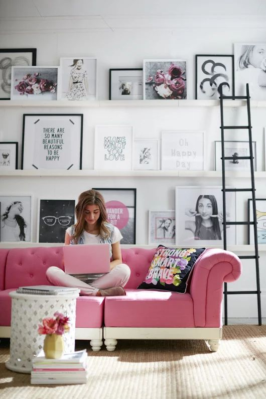 Hot Pink:  Couches
