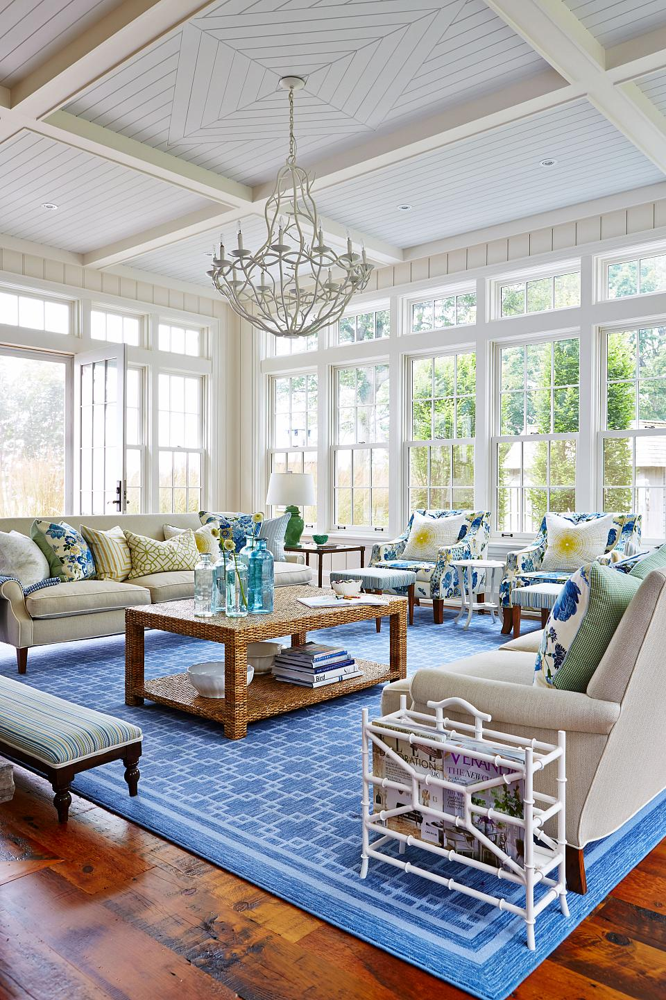 A grand sunroom for memorable family parties.