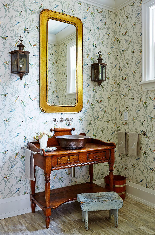 The washroom..