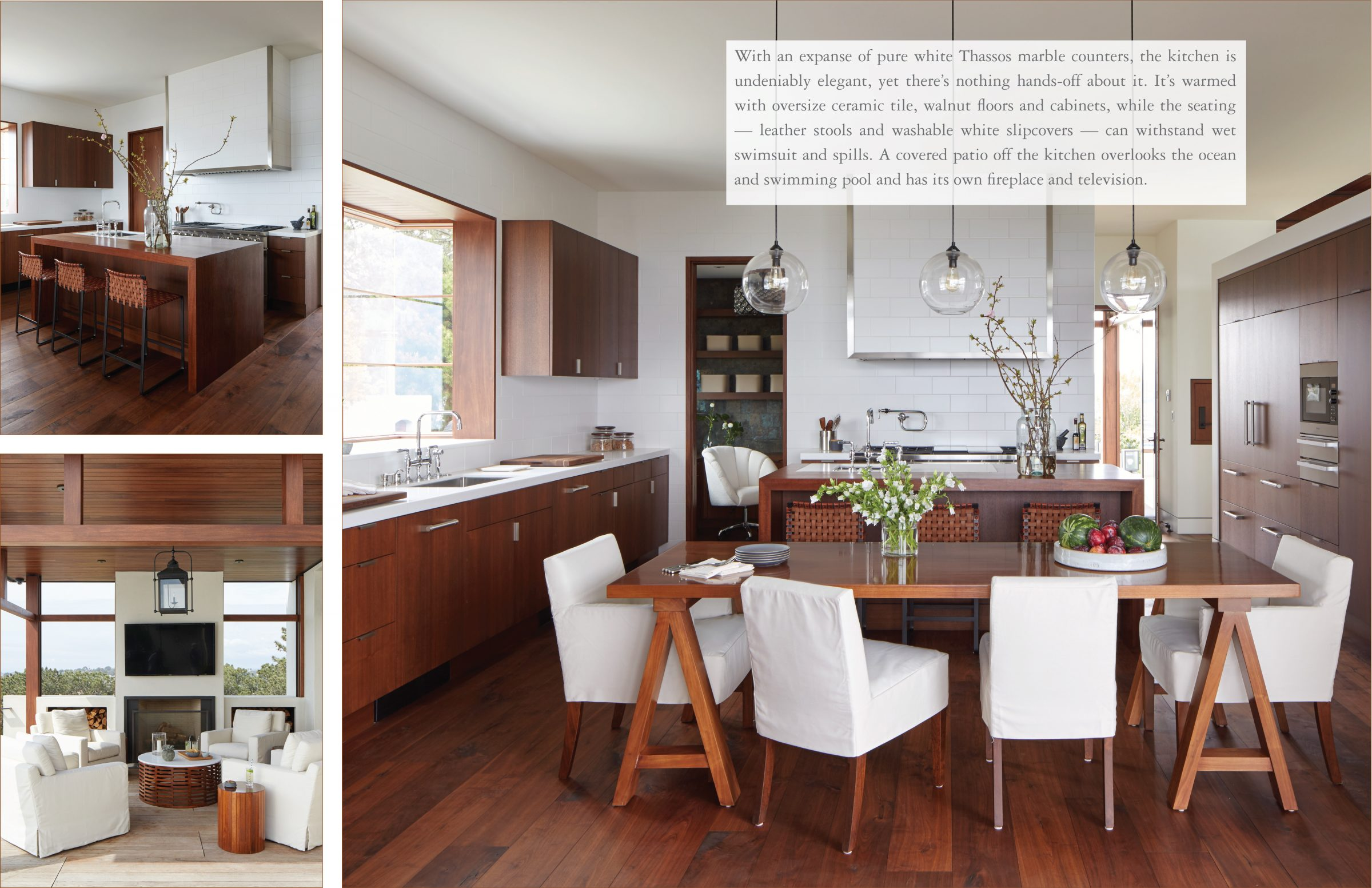 Beach Pretty Style: The Seaside House by Mark J. Williams..Take a Tour. The Pure White Counter Top is from   Thassos Marble  .