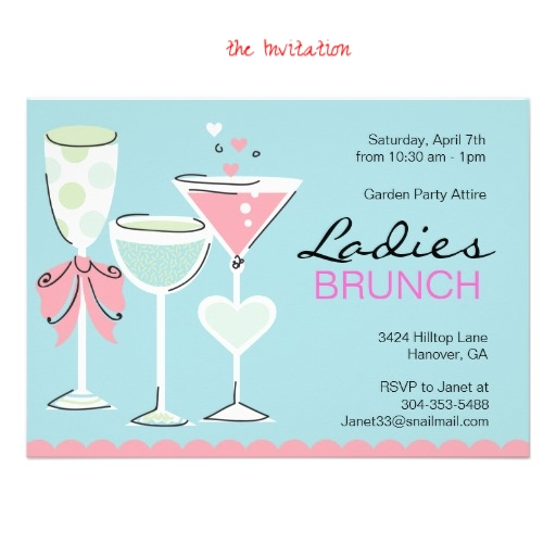 Step One: The Invitation   Everyone likes to be invited to party, and a brunch is one of the best meals to host! We love to send a cute & personal invite a few weeks ahead. This adorable invitation is from  Zazzle  and designed by Paperdotz. Invitations set the mood for your brunch, and this invitation suggest garden party attire, which suggests dressy casual. We like putting both your phone number and email address on the brunch invitation, because you many be at work during the day, so it is just easier for your guests to rsvp with you through an email.