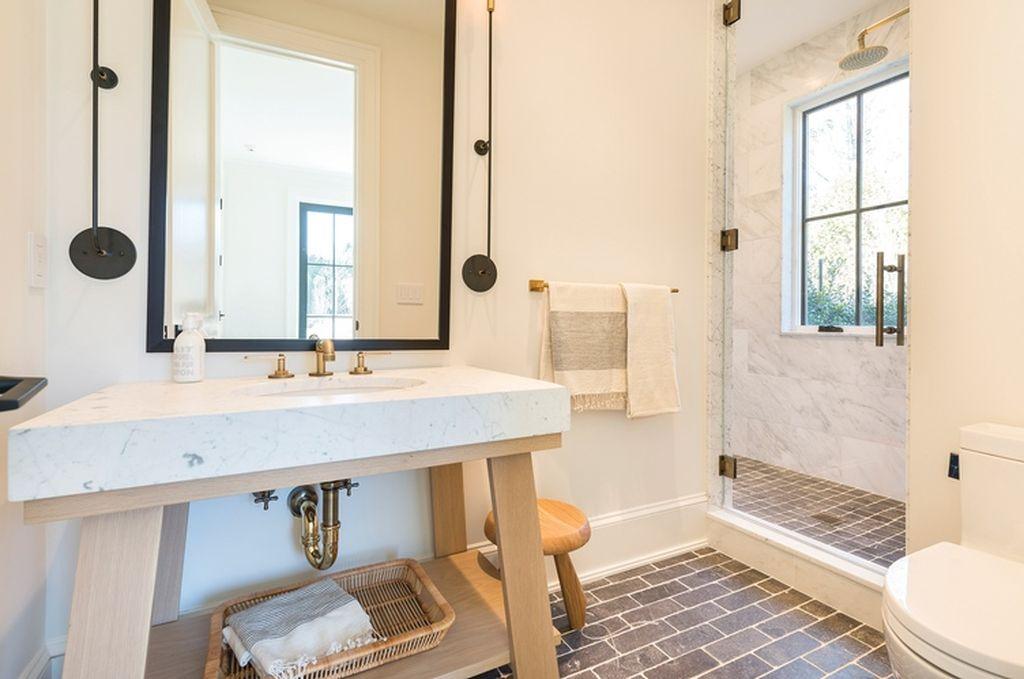 Beach Pretty House Tours:  Contemporary Bathroom
