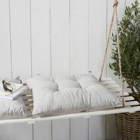 7. - We've carefully selected this beautiful-quality linen for its lovely slubby texture and think these seat pads are the perfect accessory for laid-back yet luxurious dining experiences. Shop