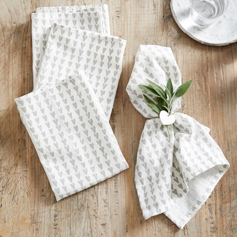 9. - This lovely set of four napkins will give any table a pretty and relaxed update and we love using them for weekend brunches. Made from pure cotton, each napkin has a soft feel and excellent washability. Shop