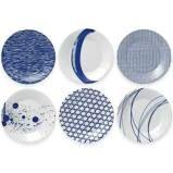 Royal Doulton Blue and White Tapa Plates