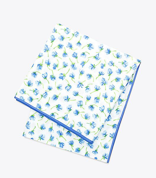 Floral Table Cloth in a Sweet Pea Pattern by Tory Burch