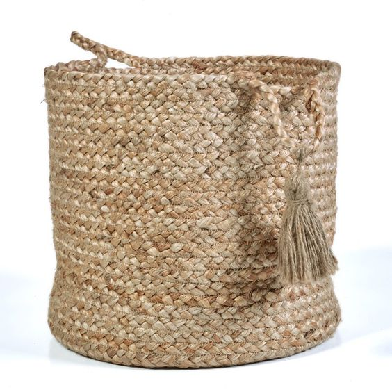 Hand-Crafted Natural Jute Basket