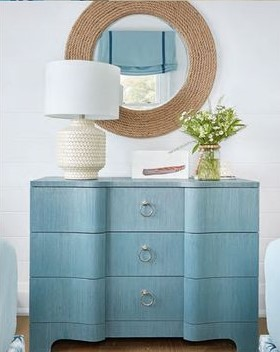 Dresser by  Bungalow 5 , Lamp by  Crate and Barrel , Mirror by  Shades of Light.