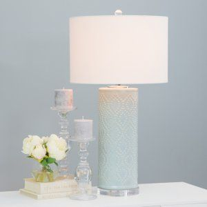 Aspire Home Accents Marcy Blue Ceramic Table Lamp