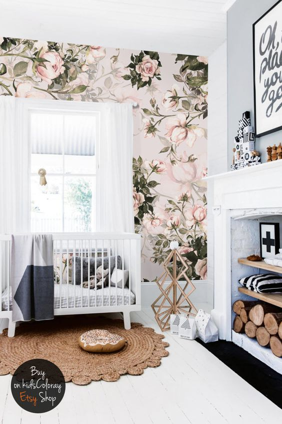 Beach Pretty House Style-Creating Designer worthy Nurserys with Colorful Wallpaper 13.jpg