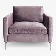 Velvet Wing Chair