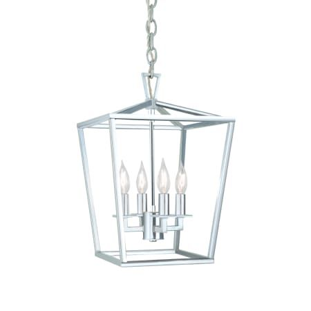 Polished Nickel Cage Pendant Light