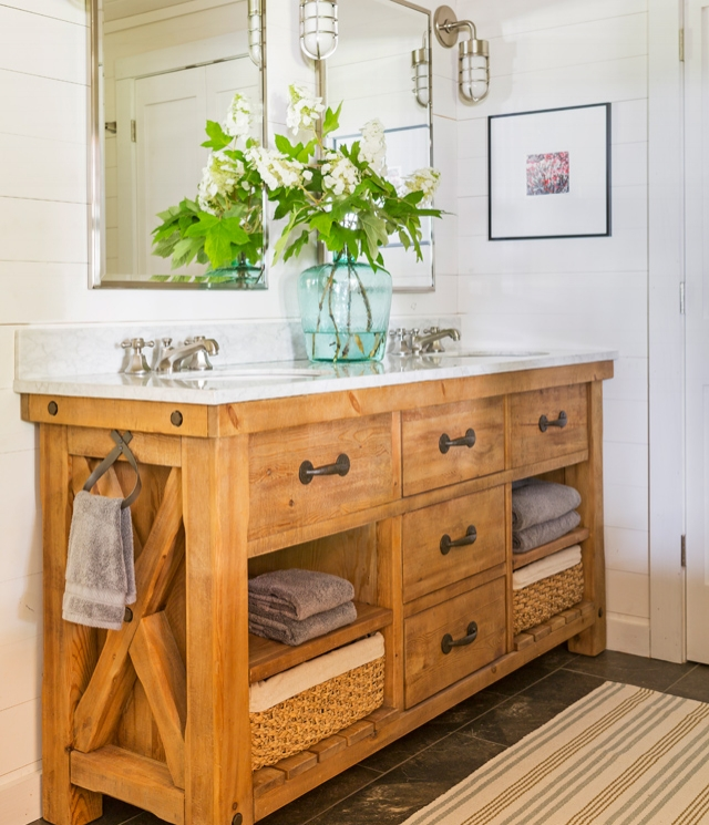 I Tried to Find A Similar Double Sink Bathroom Vanity, but Failed, I Really Think This Is a Great Vanity, If You Love This Vanity Too, I am Sure That Your Builder Could Custom Build This For Your Lakeside Bathroom..so Pretty!