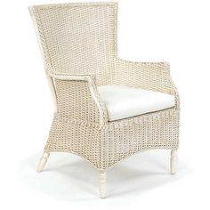 Antique White Wicker Chair