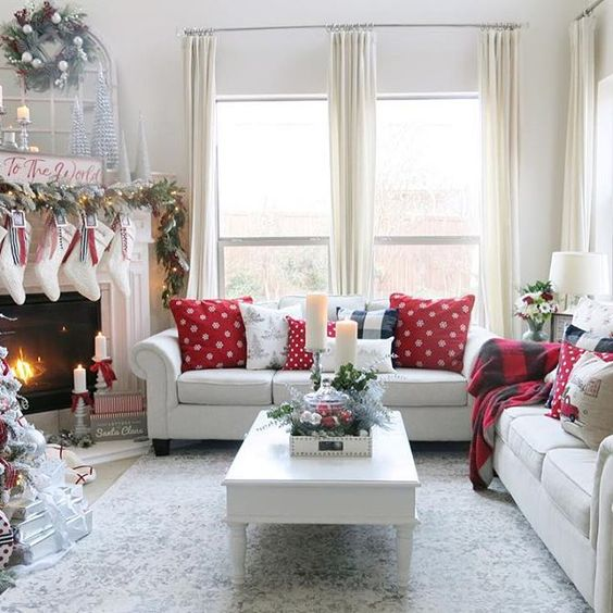 the stockings were hung by the chimney with care.. via