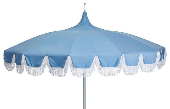 Light Blue Outdoor Umbrella