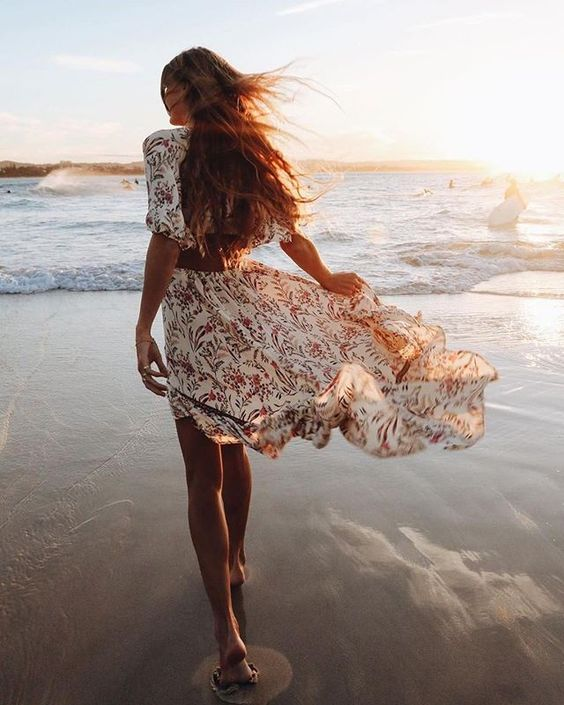 Sunshine, Toes in the Sand and a Cotton Sundress :)  Shop This Look