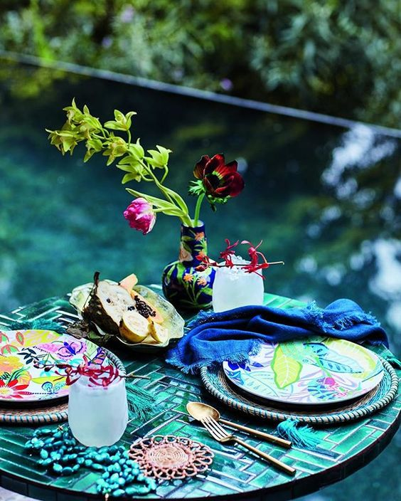 Colorful & Tropical Melamine Outdoor Dinnerware- Shop This Look