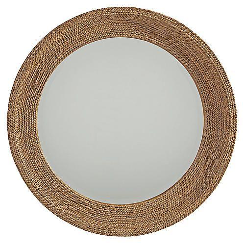 Woven Round Mirror