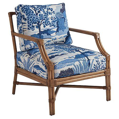 Redondo Accent Chair-Blue