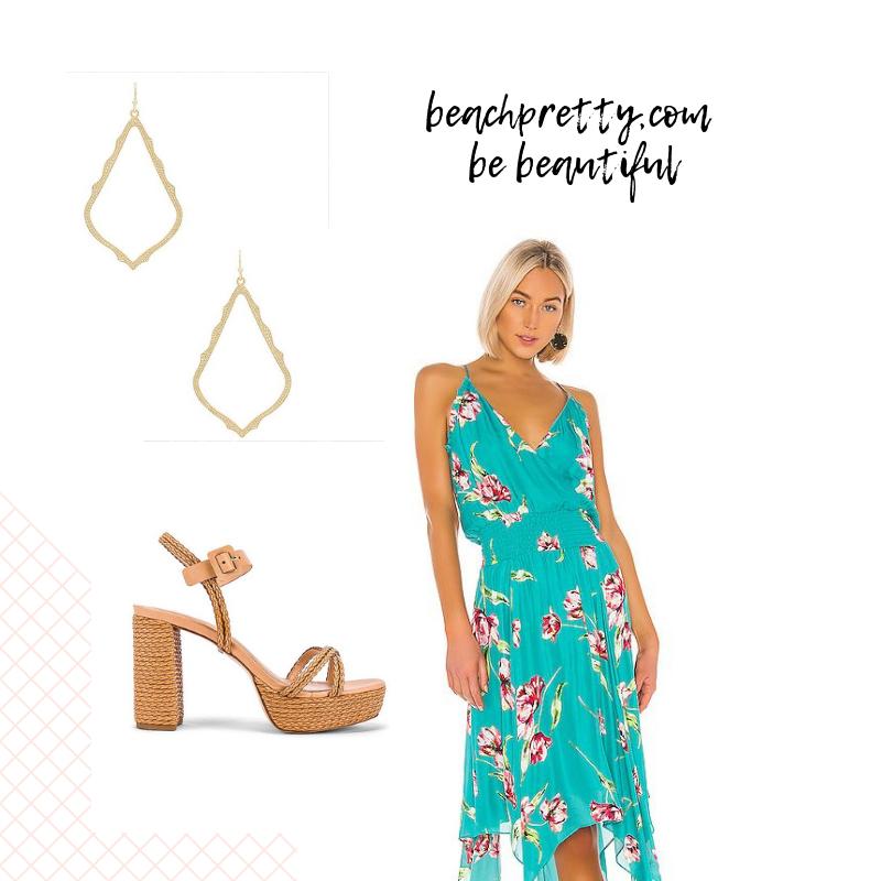 | Sophee Earrings | Camilla Heel | Nolen Dress |