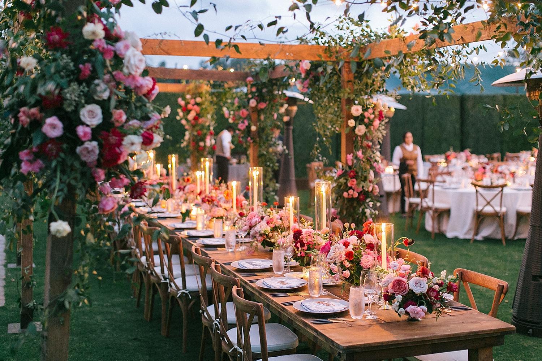 California Candlelight Garden Dream  Carla Kayes Floral Design   Photographer  Bryan Miller  