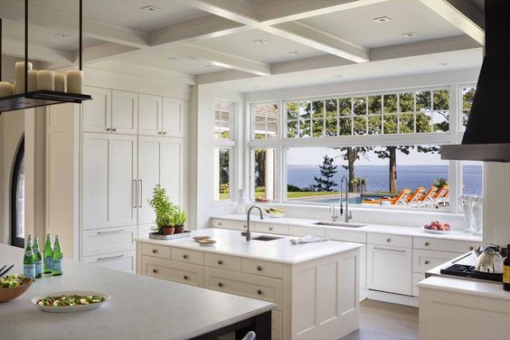 A sun-drenched kitchen that you wouldn't mind doing the dishes in.