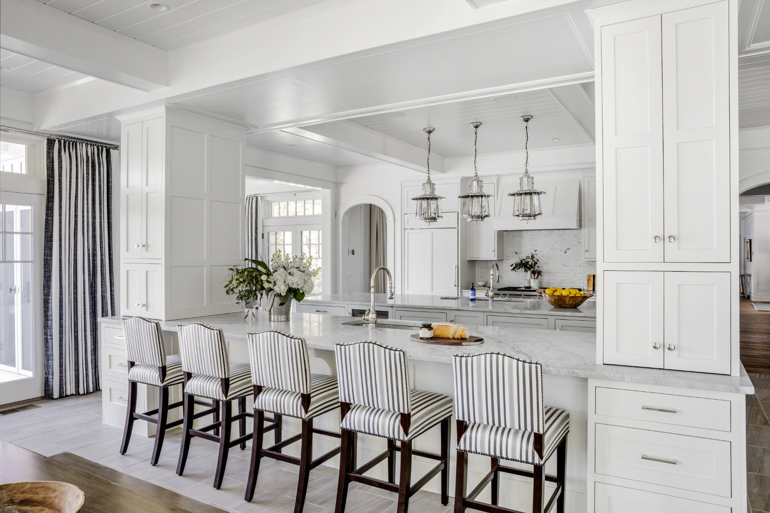 The pendant lights remind me of lighthouses..it is all in the details.