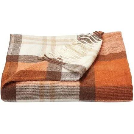 Lavish Home Faux Cashmere Acrylic Throw Blanket-Spice