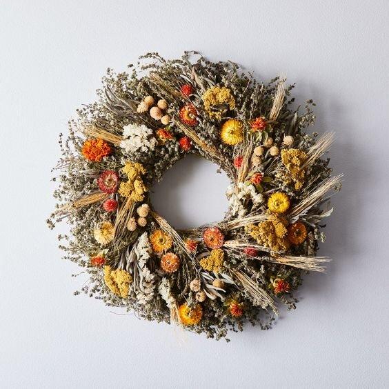 Décor & PillowsHome AccentsArtificial Flowers & PlantsWreathsSKU: W001848405 Preserved Autumn Elegance Salal Wreath