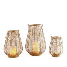 Clyde Golden Wire Lanterns