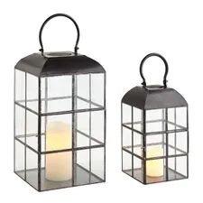 Black Window Pane Lanterns