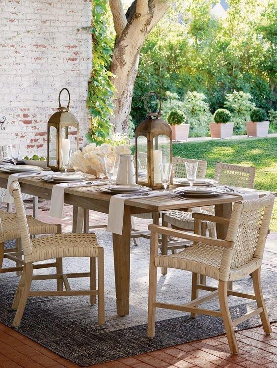 Isola 7-Pc. Rectangular Dining Set In Weathered Finish