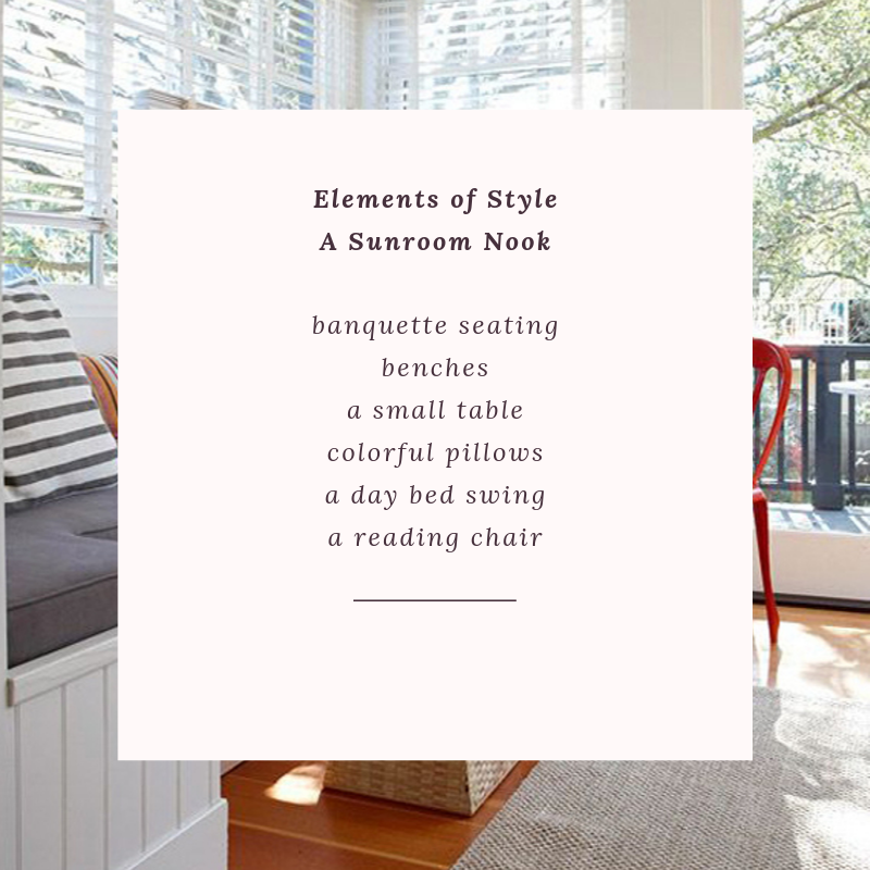 Elements of a Dining Room Sunroom a rug to anchor the room add the appropriate dining room table to balance the space an amazing overhead light a centerpiece, candles + linen invite your favorite friends over (6).png