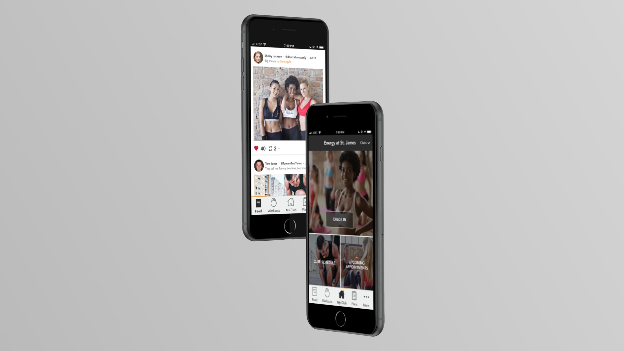 Energy Fitness Mobile App
