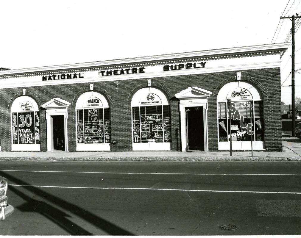 """An area of one-story buildings along Second Street between Vance and GE Patterson was known as """"Film Row"""" serving as the distribution center for all of the major motion picture studios - MGM, Paramount, Warner Brothers, 20th Century Fox and more."""