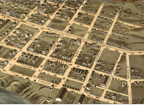 South Main Residential Neighborhood, 1879