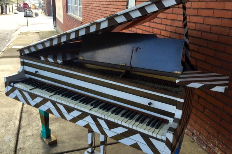 NICK PENA    Razzle Dazzle 'Em Piano.   Car paint on baby grand.